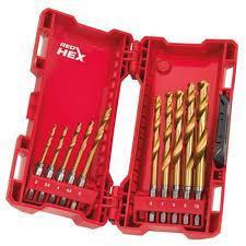 Набір сверл по металу Milwaukee Shockwave Tin Red Hex HSS-G 3-10 мм (10 шт.)