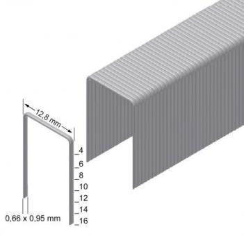 Скоба обивочная Prebena нерж. тип A-10 ширина 12.8мм (4,0 тис. шт.)